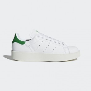 Sneaker de mode Adidas Femme Stan Smith Bold - Blanc avec Vert