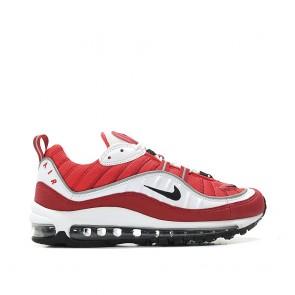 Femme Nike Air Max 98 Blanc/Noir-Gym Rouge-Réfléchir Argent AH6799-101 Chaussure