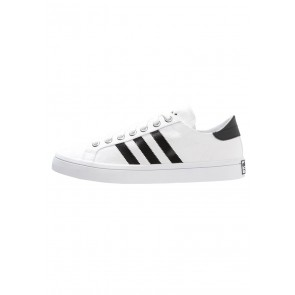 Adidas Originals Courtvantage - Chaussures de Sport Basse/Faible - Blanc/Noir Noyau/Argent Métallisé - Femme/Homme
