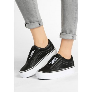 Vans X Karl Lagerfeld - Old Skool Laceless Platform Chaussures de Sport Basse/Faible - Noir - Femme