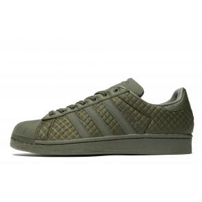 Adidas Originals Superstar Quilt Homme Vert Chaussures de Fitness