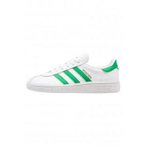 Adidas Originals Munchen - Chaussures de Sport Basse/Faible - Blanc Noyau/Blanc/Vert/Or Métallisé - Femme/Homme