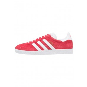 Adidas Originals Gazelle - Chaussures de Sport Basse/Faible - Rouge écarlate/Blanc/Or Métallisé - Femme/Homme