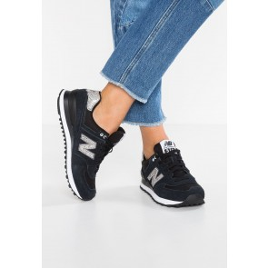 New Balance WL574 - Chaussures de Sport Basse/Faible - Noir - Femme
