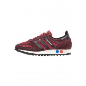 Adidas Originals LA Trainer OG - Chaussures de Sport Basse/Faible - Rouge Mystère/Noir Noyau/Brune Nuit - Femme/Homme