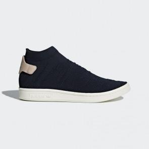 Adidas Stan Smith Sock Primeknit Baskets pour les femmes - Noyau noir et rose clair
