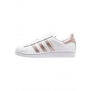 Adidas Originals Superstar - Chaussures de Sport Basse/Faible - Blanc/Rouge College - Femme/Homme