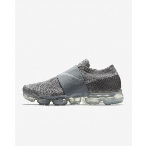 Femme Nike Air VaporMax Flyknit Moc Gris froid/Rouge cocktail/Blanc/Gris loup AA4155-006 Baskets