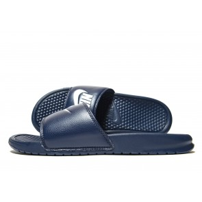 Nike Sandales Benassi Just Do It Homme Bleu Chaussures de Fitness