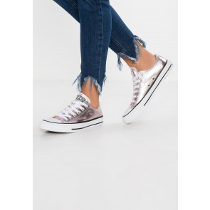 Converse Chuck Taylor All Star Metallic Canvas - Chaussures de Sport Basse/Faible - Rose Quartz/Blanc/Noir - Femme