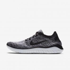 Femme chaussures de course 942839-101 Nike Free RN Flyknit 2018 blanche et noire