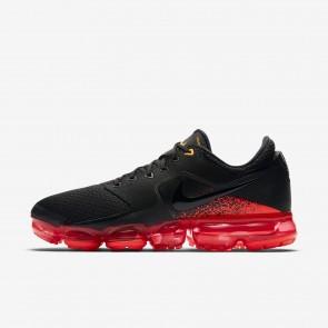 Nike Air VaporMax Chaussures de running Noir/Argent métallique/Cramoisi total/Gris foncé AH9046-009 - Homme