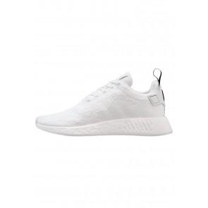 Adidas Originals NMD_R2 - Chaussures de Sport Basse/Faible - Blanc Cristal/Noir Noyau - Femme/Homme