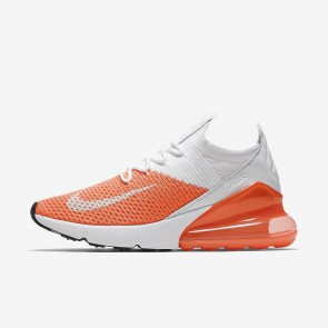 Nike Air Max 270 Flyknit Chaussures de Sport AH6803-800 Cramoisi Impulsion/Cramoisi Impulsion/Total Cramoisi/Blanc Femme