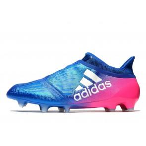 Adidas X16+ Pure Chaos FG Homme Bleu , Rouge Chaussures de Fitness