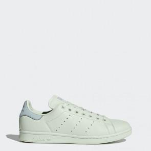 Femme Original Adidas Stan Smith chaussures de sport - Lin vert/Vert Tactile/bleu clair
