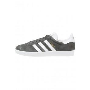 Adidas Originals Gazelle - Chaussures de Sport Basse/Faible - Gris Fixe/Blanc/Or Métallisé - Femme/Homme