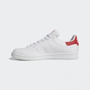 Femme Adidas Stan Smith chaussure de course - Craie blanche et Rouge collégial