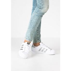 Adidas Originals Superstar - Chaussures de Sport Basse/Faible - Blanc/Argent Métallisé/Noir Noyau - Femme/Homme