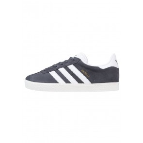 Adidas Originals Gazelle - Chaussures de Sport Basse/Faible - Bleu/Gris Fixe/Blanc/Or Métallisé - Femme
