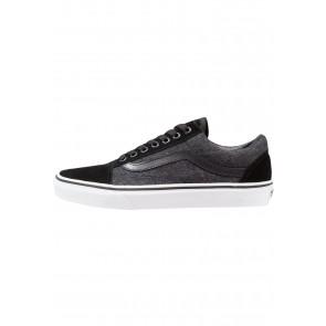 Vans Old Skool - Chaussures de Sport Basse/Faible - Noir + Obsidienne - Femme/Homme