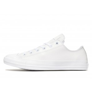 Converse All Star Ox Leather Mono Homme Blanc Chaussures de Fitness