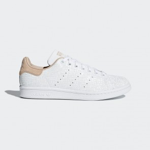Femme Chaussures de course Adidas stan smith motif géométrique - Ash Pearl/Rose et blanc
