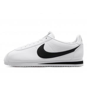 Nike Cuir Cortez Homme Blanc Chaussures de Fitness