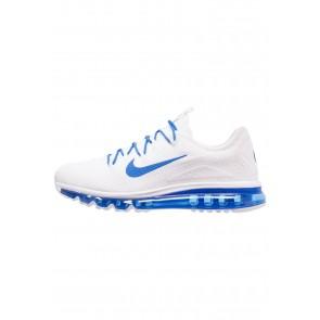 Nike Footwear Air Max MORE - Chaussures de Sport Basse/Faible - Blanc/Bleu Royal - Homme